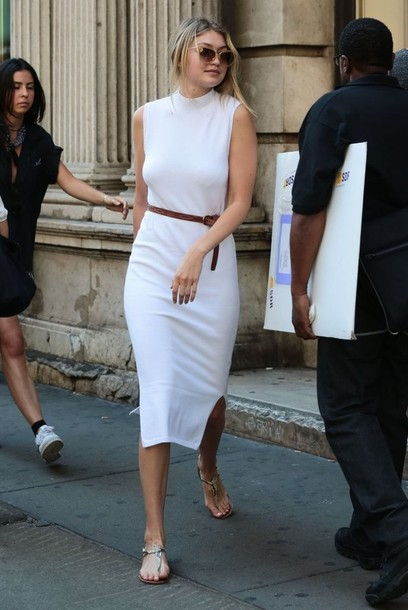 e92f74f0006b2d shoes gigi hadid sandals sam edelman sam edelman shoes model style fashion  white dress cat eye