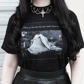 t-shirt,black,nu goth,shirt,alternative,gothic lolita,aesthetic tumblr