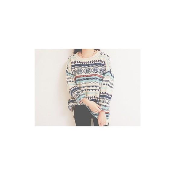sweater pullover korean fashion multicolor sweatshirt