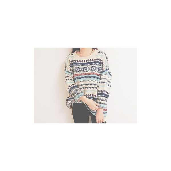 sweater multicolor sweatshirt korean fashion pullover