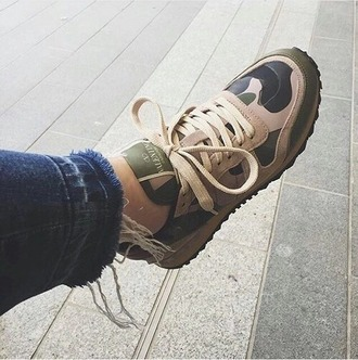 shoes camouflage olive green tan sneakers kicks