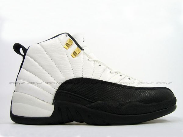 Nike Air Jordans Retro 12 Xii Shoes White Black Gold