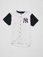 shirt,baseball jersey,jersey,black,white,stripes,t-shirt,hipster,tumblr,baseball,skirt,baseball tee,white dress,sportswear