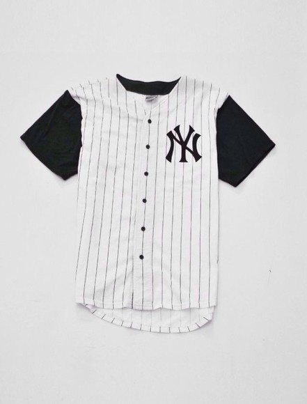 black white shirt jersey baseball jersey stripes