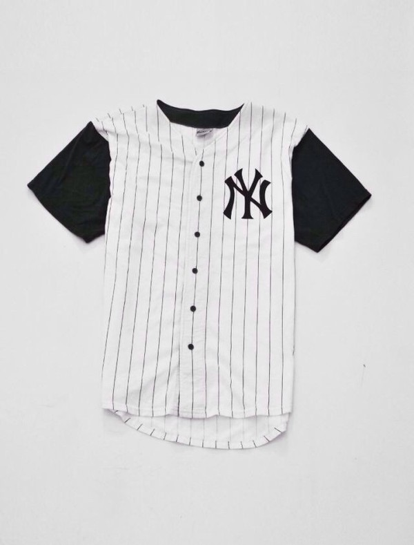shirt baseball jersey jersey black white stripes t-shirt hipster tumblr baseball baseball tee white dress