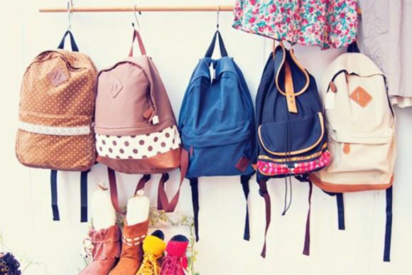bag backpack girl dots