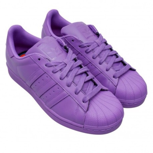 superstar slip on women purple