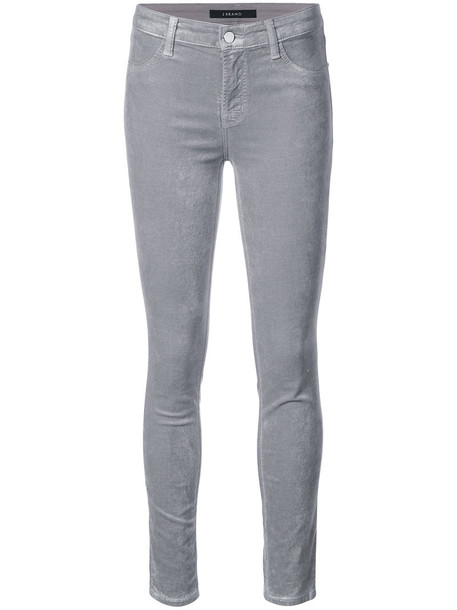 J BRAND jeans skinny jeans women cotton grey