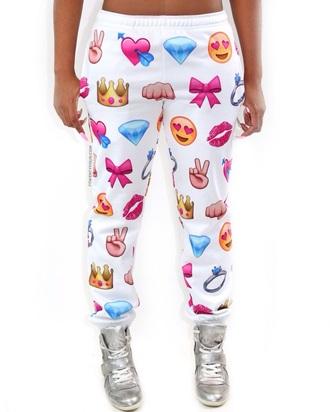 emoji print emoji pants