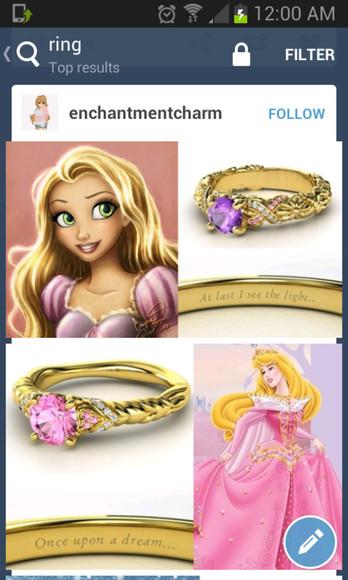 disney jewels ring diamonds jewlery !!. purple