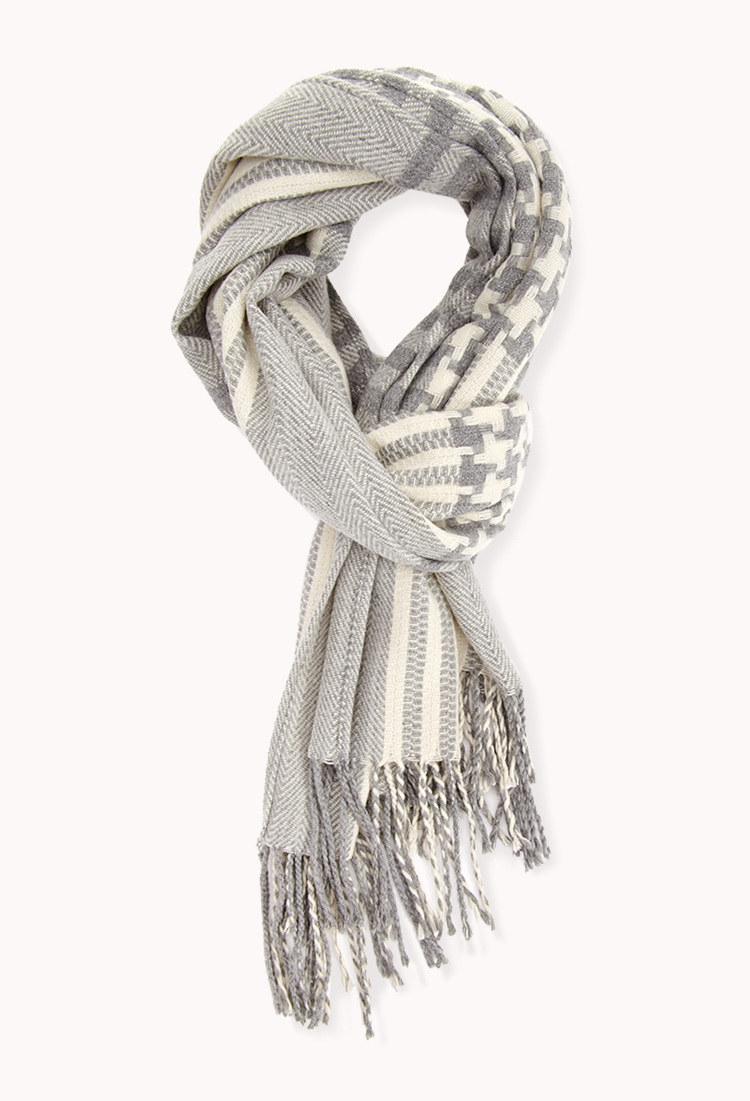Remixed Plaid Scarf | FOREVER21 - 1000129693