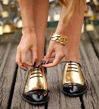gold shoes metallic shoes