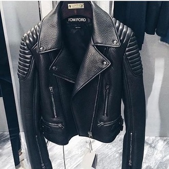 jacket biker jacket black tom ford leather jacket leather need  want help me find the perfect b-day outfit