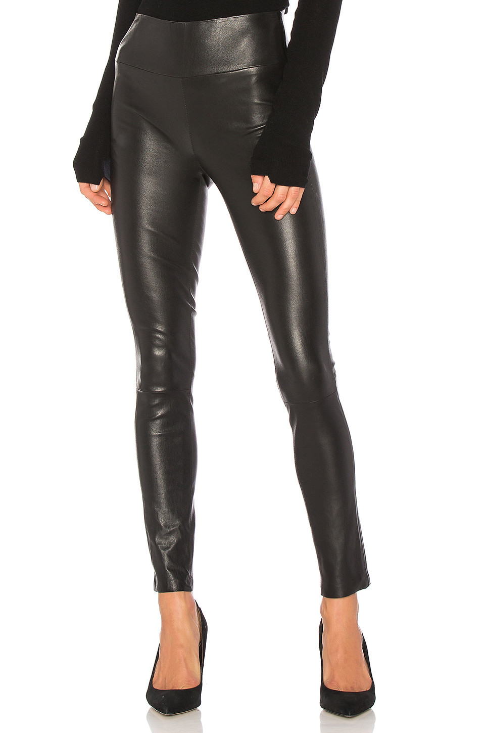 SPRWMN High Waist Ankle Legging in black