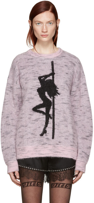 sweater oversized pink