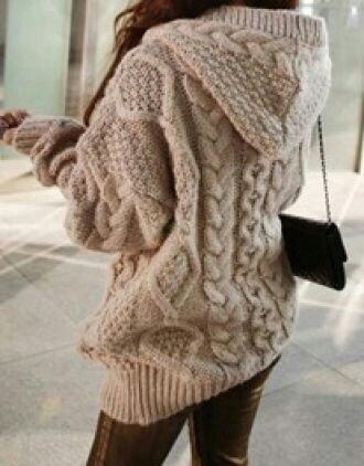 sweater chunky sweater sweater hoodie oversized sweater