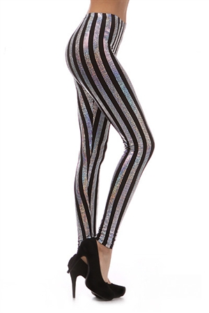 World of Leggings | Vertical Hologram Leggings