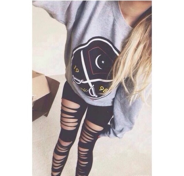 leggings sweater jacket