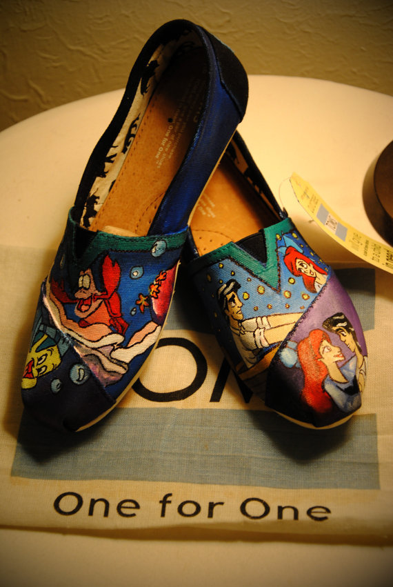 Little Mermaid- Custom TOMS on Wanelo