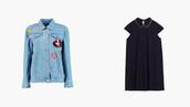 jacket,denim jacket,patch,dress,black dress,patched denim