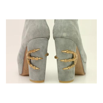 leather grey shoes claw