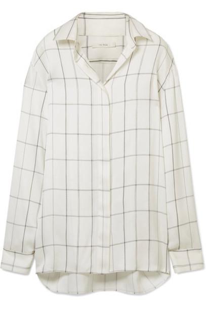 The Row shirt silk satin top