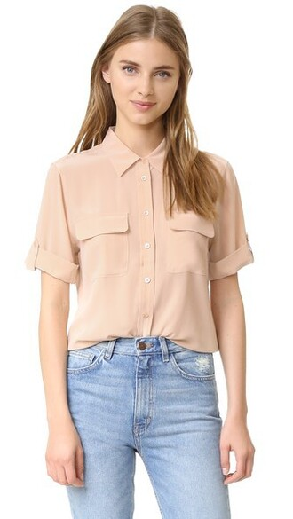 blouse short nude top