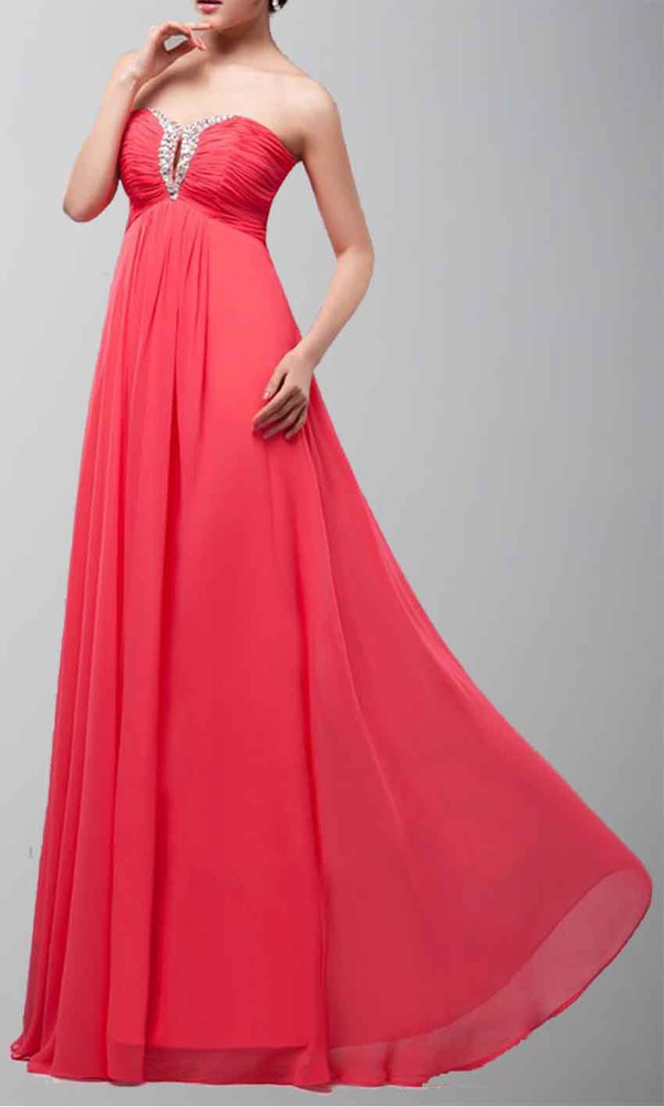 long prom dress sexy dress empire waist dress keyhole dress hot pink dress aline prom dress flattering full length prom dress long formal dress