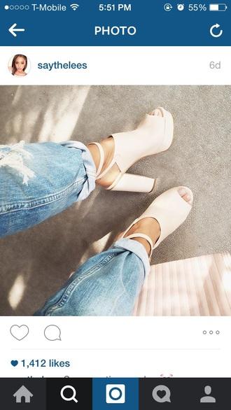 shoes high heels nude heels open toes