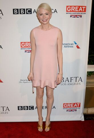 dress michelle williams sandals mini dress nude dress nude