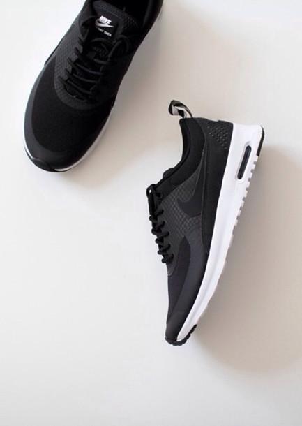nike training shoes black and white