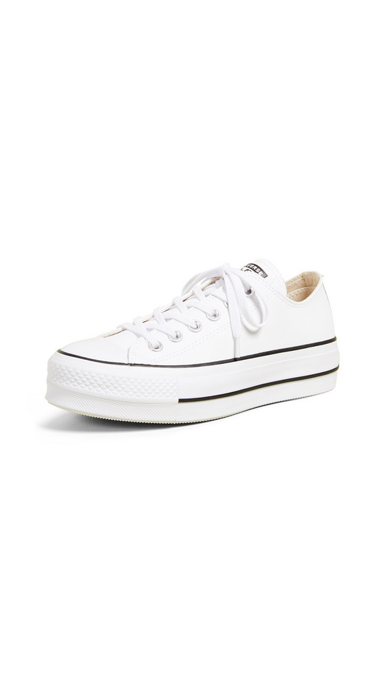 Converse Chuck All Star Lift Clean Ox Sneakers in black / white