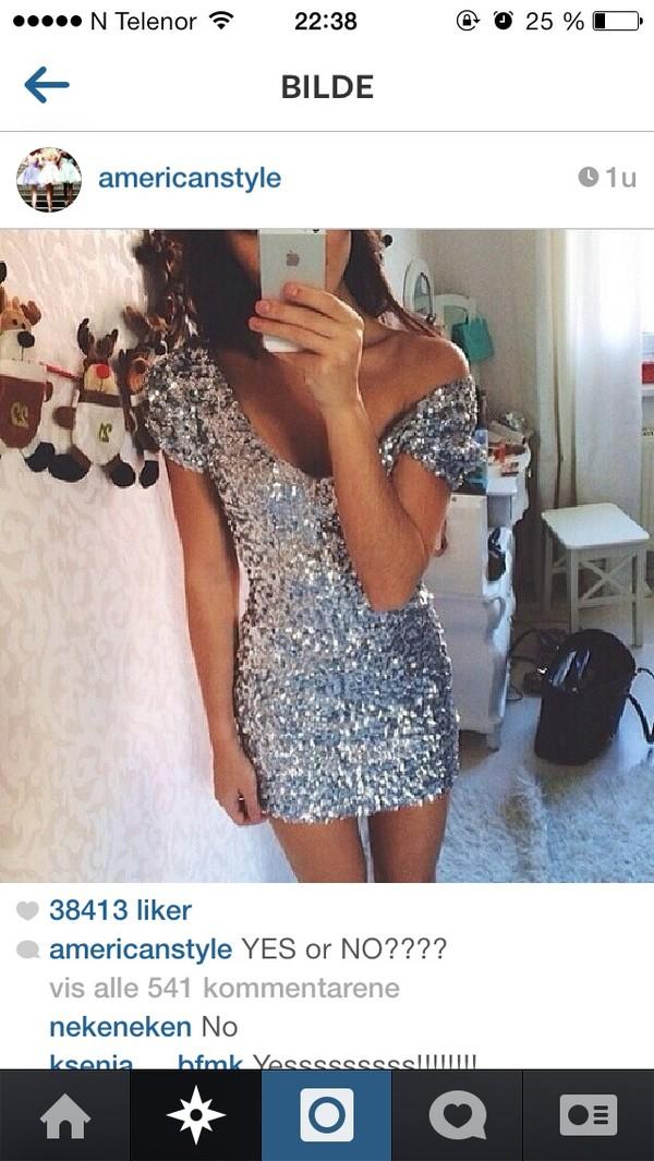 dress silver dress