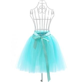 skirt turquoise fashion style trendy girly tutu feminine girly wishlist musheng