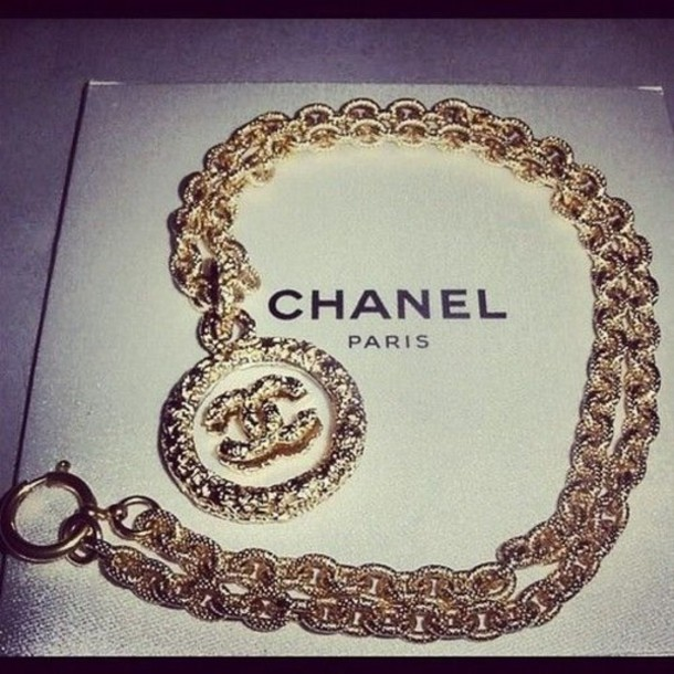 jewels chunky gold chanel chain chainlink diamonds gold chain chanel gold necklace double c necklace gold double c necklace gold necklace chanel necklace