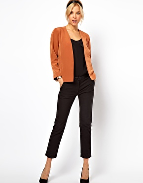 ASOS Cropped Soft Blazer at ASOS