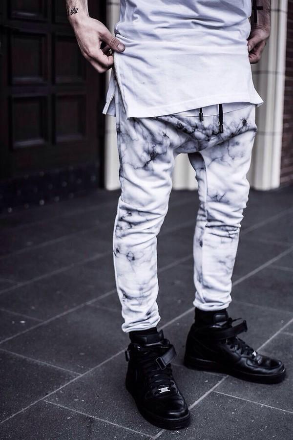 tie dye kanye west tracksuit sweatpants blvck pyrex menswear sweatpants grey swag style streetwear hipster pants