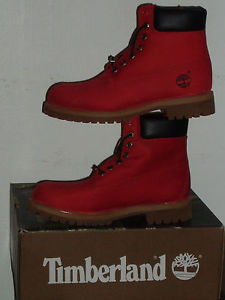 Timberland Villa 6 in Prem Boot Ruby Red Men's Size US 8 5 13 | eBay