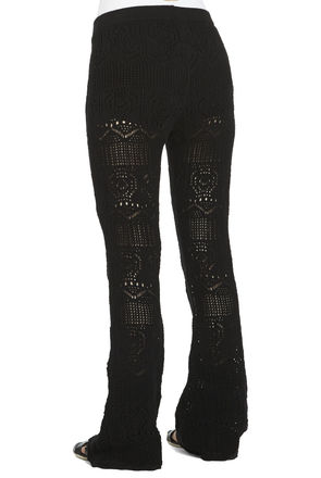 Crochet Flared-Leg Pant | BCBGeneration