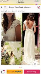 dress,empire waist beach wedding  dress