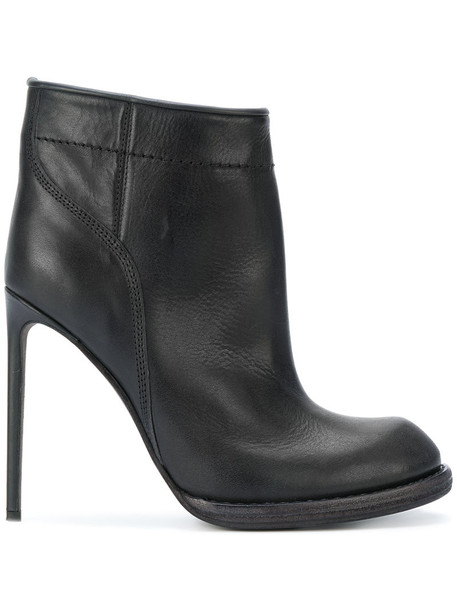 Haider Ackermann heel women heel boots leather black shoes