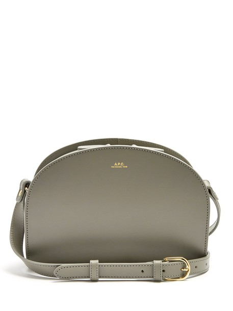 A.P.C. cross moon bag leather grey