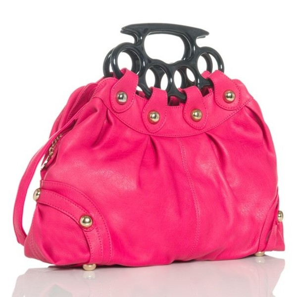 bag pink cute brass knuckles
