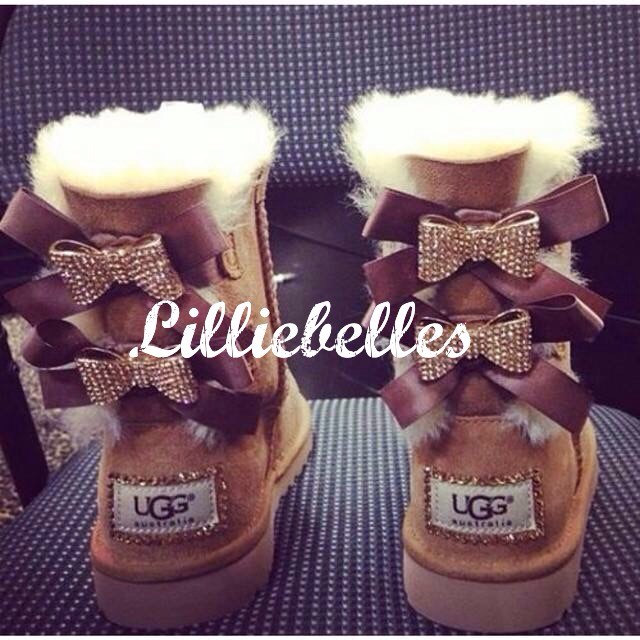 Womens bling bailey bow ugg boots .