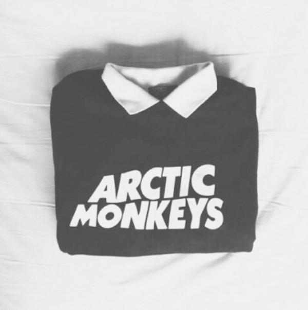 arctic monkeys indie band merch shirt