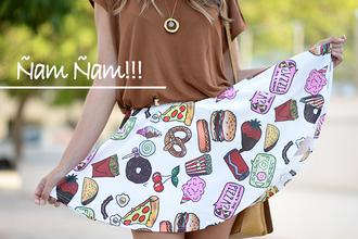mi aventura con la moda blogger skirt t-shirt shoes bag