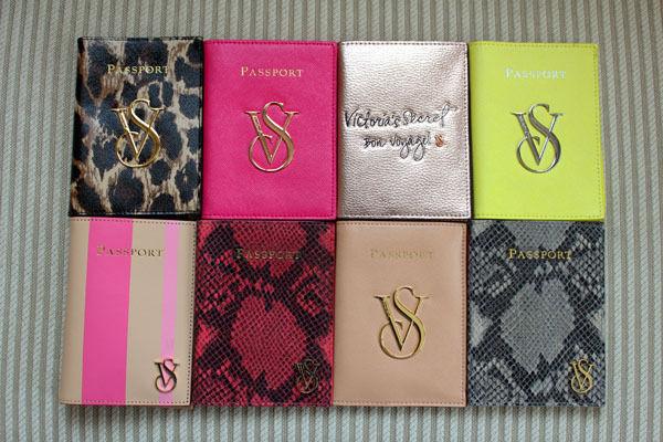 Victoria's secret real leather travel passport case holder cover