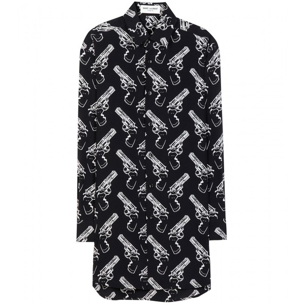 gun print black and white shirt saint laurent hipster wishlist