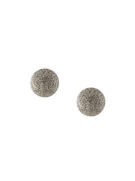 women earrings stud earrings gold grey metallic jewels