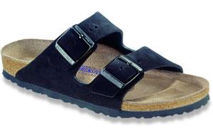 Arizona Soft Footbed Black Suede Sandals | Birkenstock USA Official Site